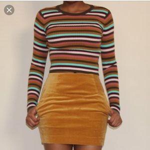 H&M Velvet Mini Skirt Sz 10